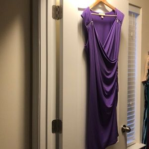 Purple dress; perfect for night on the town